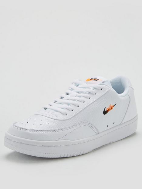 nike-court-vintage-premium-whiteblackorange