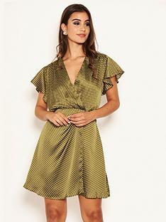 ax-paris-printed-polka-dot-satin-dress-olive