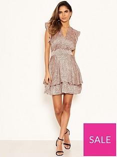 ax-paris-petite-frill-hem-polka-dot-dress-pink