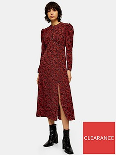topshop-printed-piped-midi-dress--red
