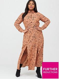 ax-paris-curve-maxi-shirt-dress-rust