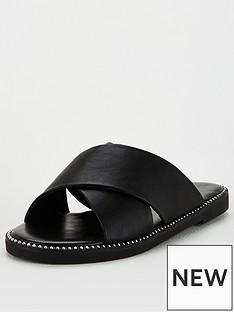 v-by-very-hara-cross-strap-slider-black