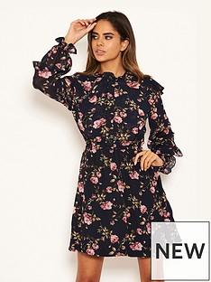 ax-paris-chiffon-floral-day-dress-navy