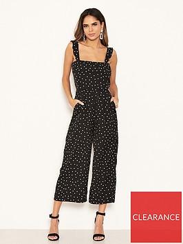 ax-paris-petite-polka-dot-culotte-jumpsuit-black