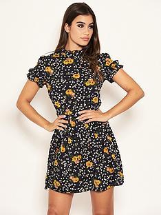 ax-paris-petite-ditsy-floral-day-dress-black