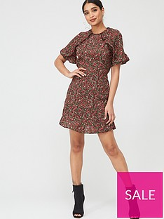 ax-paris-floral-ditsy-frill-arm-day-dress-red