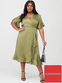 ax-paris-curve-spotted-frill-dress