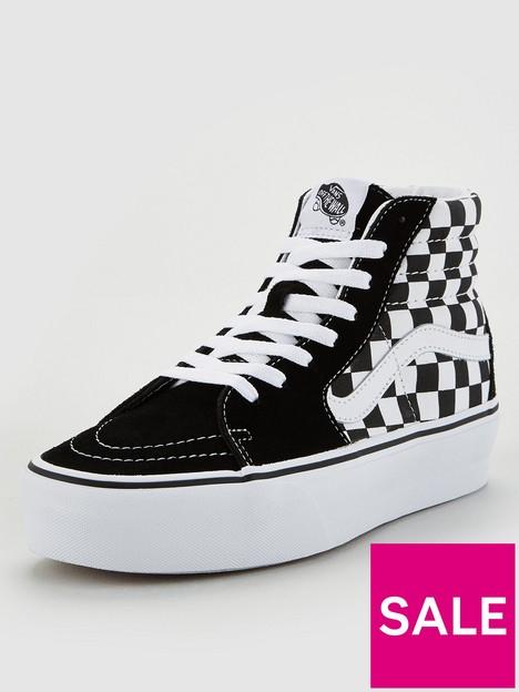 vans-ua-sk8-hi-checkerboard-platform-black