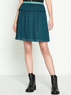 kenzo-metallic-woven-skirt-blue