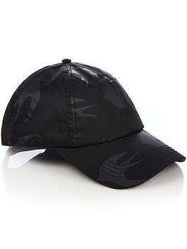 mcq-alexander-mcqueen-mensnbspnylon-swallownbspbaseball-cap-black