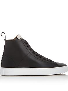 vivienne-westwood-logo-high-top-leather-tennis-trainers-black