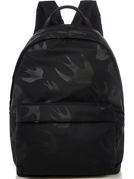 mcq-alexander-mcqueen-menrsquos-swallow-print-nylon-backpack--nbspblack