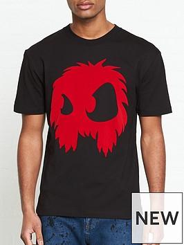 mcq-alexander-mcqueen-monster-flock-print-t-shirt-black