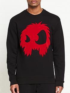 mcq-alexander-mcqueen-monster-flock-print-sweatshirtnbsp--black