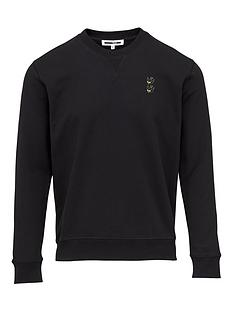 mcq-alexander-mcqueen-swallow-embroidered-sweatshirt-black