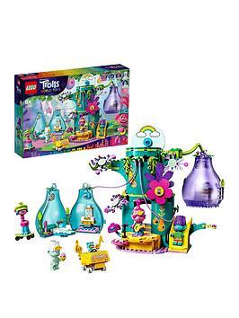 lego-trolls-41255-world-tour-pop-village-celebration-treehouse