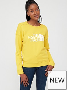 the-north-face-drew-peak-crew-sweatshirt-yellownbsp