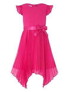 monsoon-girls-rubina-pleat-dress-magenta