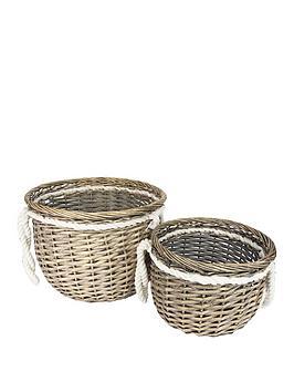 gisela-graham-round-wicker-baskets-ndash-set-of-2