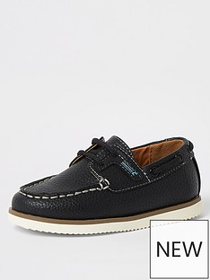 river-island-mini-mini-boys-boatshoe-navy