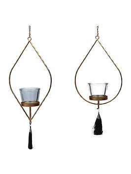 gisela-graham-gold-ogee-hanging-tealight-holders-ndash-set-of-2
