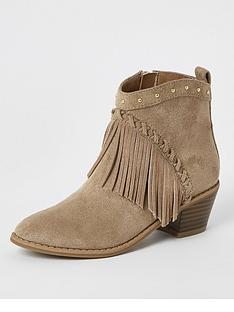 river-island-girls-fringe-western-ankle-boot--beige