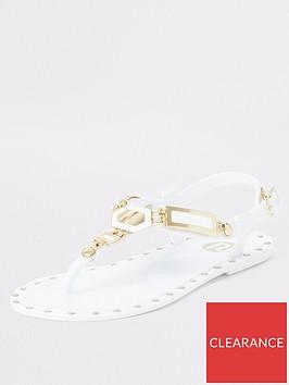 river-island-girls-studded-jelly-sandal-white