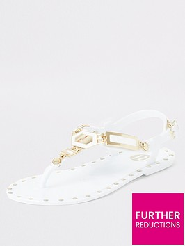 river-island-girls-studded-jelly-sandal-white