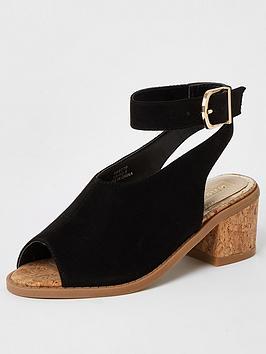 river-island-girls-cork-helled-sandal-black