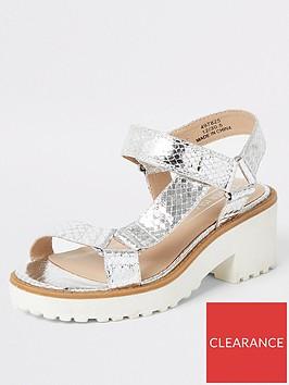 river-island-girls-metalic-chunky-heeled-sandal-silver