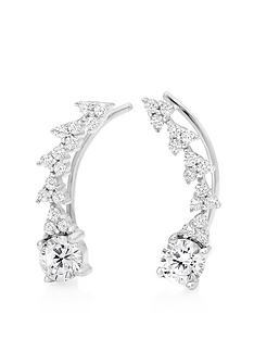 beaverbrooks-silver-cubic-zirconia-climber-earrings