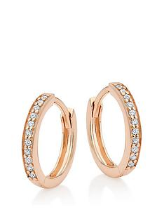 beaverbrooks-silver-rose-gold-plated-cubic-zirconia-hoop-earrings