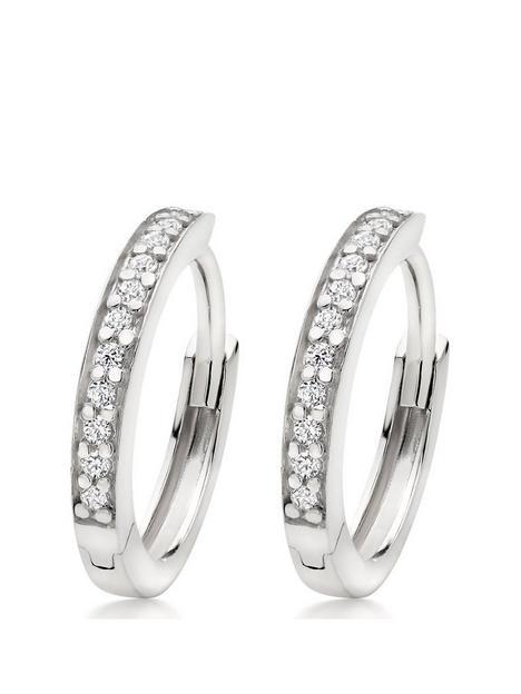 beaverbrooks-silver-cubic-zirconia-hoop-earrings