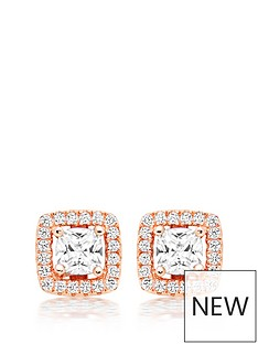 beaverbrooks-silver-rose-gold-plated-cubic-zirconia-halo-stud-earrings