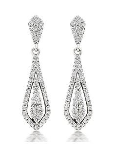 beaverbrooks-silver-cubic-zirconia-drop-earrings