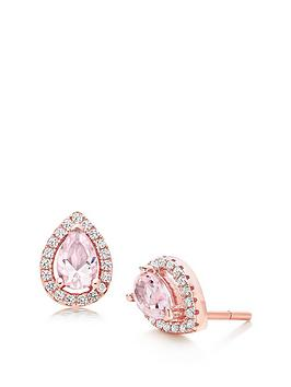 beaverbrooks-silver-rose-gold-plated-synthetic-morganite-and-cubic-zirconia-stud-earrings
