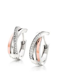beaverbrooks-silver-and-rose-gold-plated-crossover-earrings