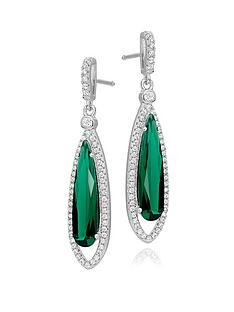 beaverbrooks-silver-green-cubic-zirconia-halo-drop-earrings