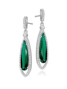beaverbrooks-silver-green-cubic-zirconia-halo-drop-earrings