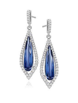 beaverbrooks-silver-blue-cubic-zirconia-halo-drop-earrings
