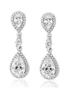 beaverbrooks-silver-cubic-zirconia-halo-drop-earrings