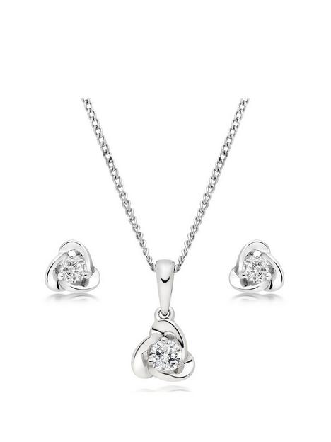 beaverbrooks-9ct-white-gold-diamond-pendant-and-earrings-set