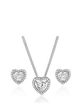 beaverbrooks-silver-cubic-zirconia-heart-pendant-and-stud-earrings-set