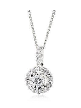 beaverbrooks-18ct-white-gold-diamond-cluster-pendant