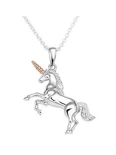 beaverbrooks-silver-rose-gold-plated-unicorn-pendant