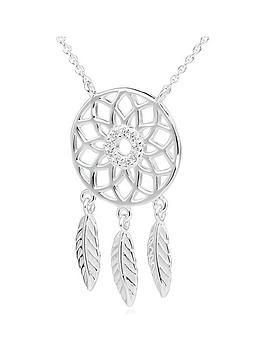 beaverbrooks-silver-cubic-zirconia-dreamcatcher-necklace