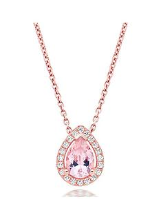 beaverbrooks-silver-rose-gold-plated-synthetic-morganite-and-cubic-zirconia-pendant