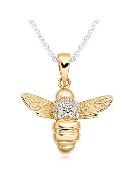 beaverbrooks-silver-gold-plated-cubic-zirconia-bee-pendant