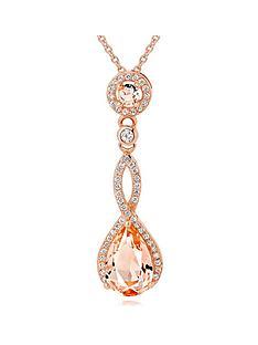 beaverbrooks-silver-rose-gold-plated-peach-cubic-zirconia-pendant