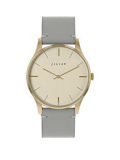 jigsaw-jigsaw-champagne-and-gold-detail-dial-grey-leather-strap-ladies-watch